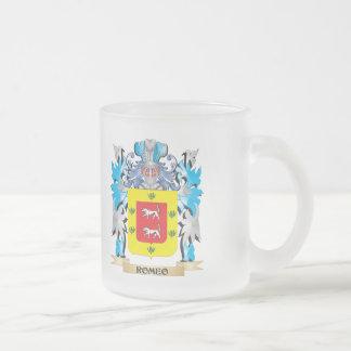 Escudo de armas de Romeo - escudo de la familia Taza Cristal Mate
