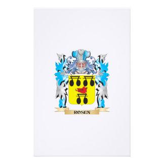 Escudo de armas de Rosen - escudo de la familia Papeleria Personalizada