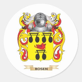 Escudo de armas de Rosen (escudo de la familia) Etiquetas Redondas