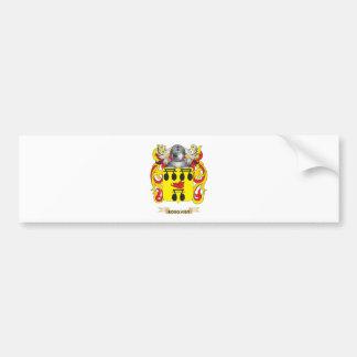 Escudo de armas de Ross (escudo de la familia) Etiqueta De Parachoque