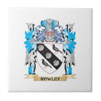 Escudo de armas de Rowley - escudo de la familia Azulejos