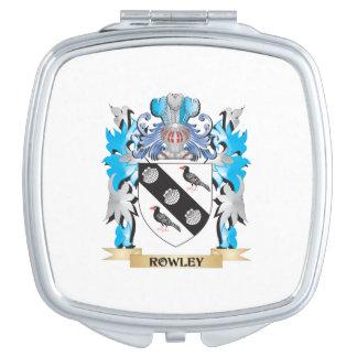 Escudo de armas de Rowley - escudo de la familia Espejo Compacto