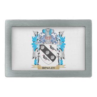 Escudo de armas de Rowley - escudo de la familia Hebillas Cinturón Rectangulares