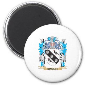 Escudo de armas de Rowley - escudo de la familia Imán Para Frigorífico