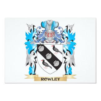 Escudo de armas de Rowley - escudo de la familia Invitación 12,7 X 17,8 Cm