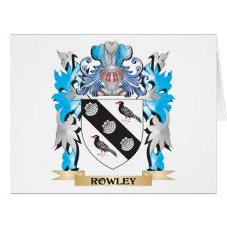 Escudo de armas de Rowley - escudo de la familia Tarjeton