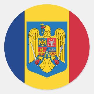 Escudo de armas de Rumania, el República del Congo Pegatina Redonda