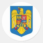 Escudo de armas de Rumania Etiqueta Redonda