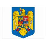 Escudo de armas de Rumania Postales