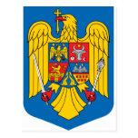 Escudo de armas de Rumania Tarjeta Postal