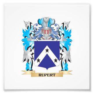 Escudo de armas de Rupert - escudo de la familia Impresión Fotográfica