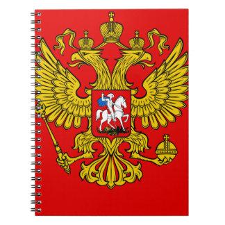 Escudo de armas de Rusia Cuadernos