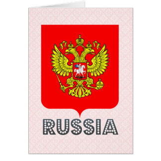 Escudo de armas de Rusia Tarjeta De Felicitación