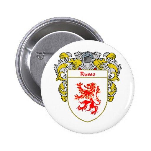 Escudo de armas de Russo (cubierto) Pin Redondo 5 Cm