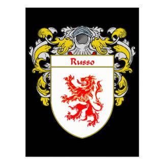 Escudo de armas de Russo (cubierto) Tarjeta Postal