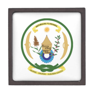 Escudo de armas de Rwanda Caja De Regalo De Calidad