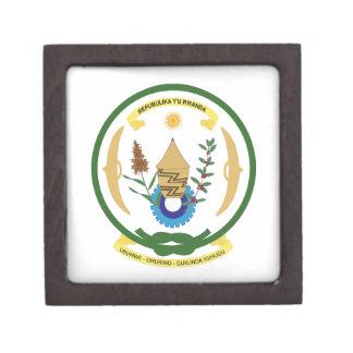 Escudo de armas de Rwanda Cajas De Regalo De Calidad