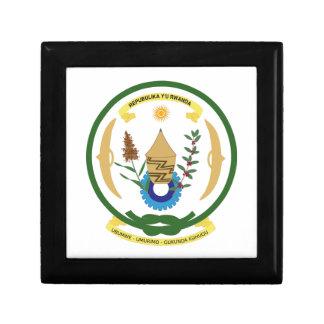 Escudo de armas de Rwanda Caja De Regalo