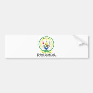 Escudo de armas de Rwanda Pegatina De Parachoque