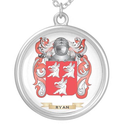 Escudo de armas de Ryan (escudo de la familia) Colgante Redondo