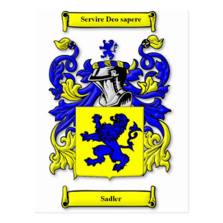 Escudo de armas de Sadler Tarjeta Postal