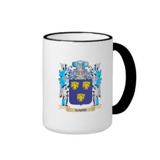 Escudo de armas de Sains - escudo de la familia Taza A Dos Colores