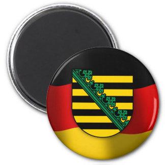 Escudo de armas de Sajonia Imán Redondo 5 Cm