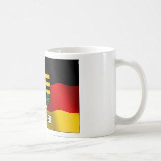 Escudo de armas de Sajonia Taza De Café