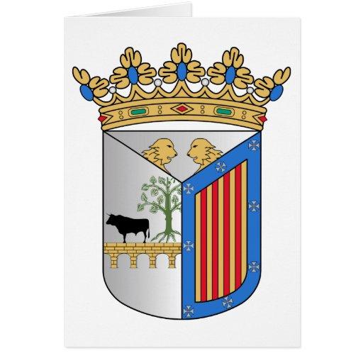 Escudo de armas de Salamanca (España) Tarjetón
