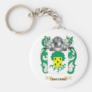 Escudo de armas de Salcedo (escudo de la familia) Llavero Redondo Tipo Pin