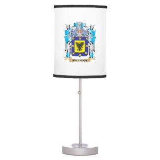 Escudo de armas de Salvador - escudo de la familia Lámpara De Escritorio