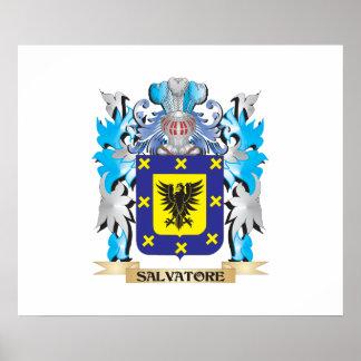 Escudo de armas de Salvador - escudo de la familia Impresiones