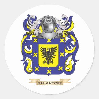 Escudo de armas de Salvador (escudo de la familia) Pegatina Redonda