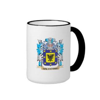 Escudo de armas de Salvador - escudo de la familia Taza De Dos Colores