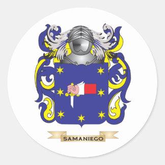 Escudo de armas de Samaniego (escudo de la Pegatinas Redondas