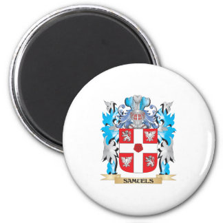 Escudo de armas de Samuels - escudo de la familia Imán Redondo 5 Cm