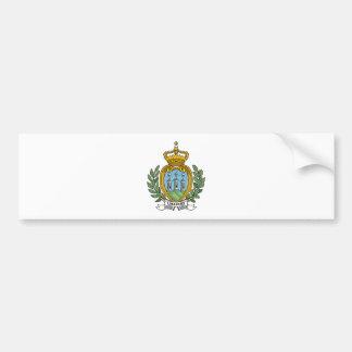 Escudo de armas de San Marino Pegatina Para Coche