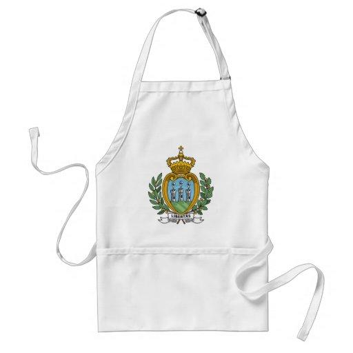 Escudo de armas de San Marino Delantales