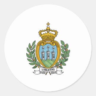Escudo de armas de San Marino Pegatina Redonda