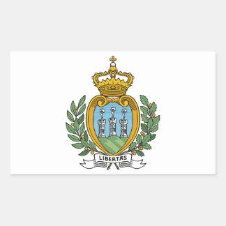 Escudo de armas de San Marino Pegatina Rectangular