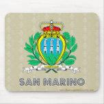 Escudo de armas de San Marino Alfombrillas De Ratones