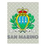 Escudo de armas de San Marino Tarjetas Postales