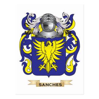 Escudo de armas de Sanches (escudo de la familia) Postales