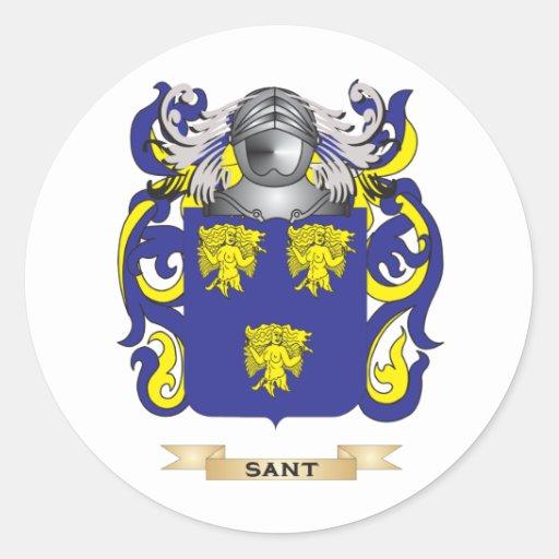 Escudo de armas de Sant (escudo de la familia) Pegatinas
