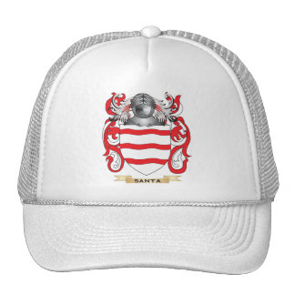 Escudo de armas de Santa (escudo de la familia) Gorras De Camionero