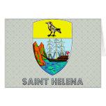 Escudo de armas de Santa Helena Felicitación