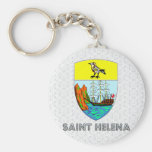 Escudo de armas de Santa Helena Llaveros Personalizados