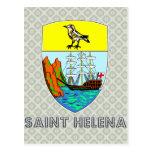 Escudo de armas de Santa Helena Postales