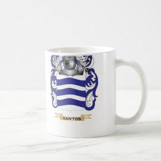 Escudo de armas de Santos (escudo de la familia) Tazas De Café