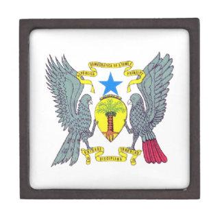 Escudo de armas de Sao Tome Principe Caja De Regalo De Calidad